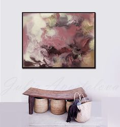 Large Watercolor Painting Abstract Landscape Huge Wall Art