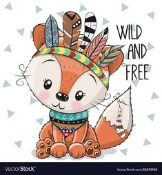 Find Cute Cartoon tribal Fox with feathers on a white background stock vectors and royalty free photos in HD. Explore millions of stock photos, images, illustrations, and vectors in the Shutterstock creative collection. Cute Animal Drawings, Cute Drawings, Cute Fox Drawing, Tribal Fox, Tribal Animals, Lapin Art, Feather Vector, Belly Painting, Fox Art