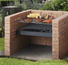 DIY charcoal barbecue grill from Tesco is a replacement steel grill to build into a brick and mortar surround. Perfect for entertaining, it is elegant and easy to assemble. Diy Grill, Barbecue Grill, Grilling, Porch Grill, Parrilla Exterior, Brick Grill, Bokashi, Grill Area, Built In Grill