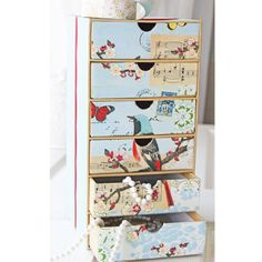 Deco Bird Box Project Green Craft, Diy Mothers Day Gifts, Studio Organization, Organisation, Bird Boxes, Mother's Day Diy, Altered Boxes, Altered Art, Diy Storage