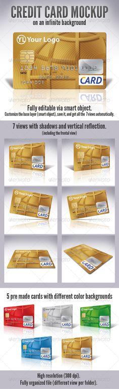 Credit Card Mock-Up Download here: https://graphicriver.net/item/credit-card-mockup/3156833?ref=KlitVogli