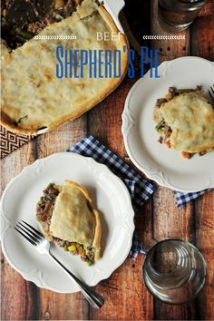 An easier version of the traditional beef shepherd's pie that keeps the comfort and deliciousness, but saves time and effort. A Food, Good Food, Food And Drink, Yummy Food, Delicious Recipes, Yummy Treats, Supper Recipes, Creamed Mushrooms, Daily Meals