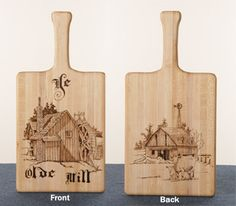 cutting boards to go with the wooden spoons as gifts