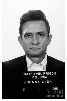 Johnny Cash Mugshot Art Print by Jon Neidert Johnny Cash Art Print featuring the photograph Johnny Cash Mugshot by Jon Neidert Johnny Cash Tattoo, Johnny Cash Quotes, Johnny Cash First Wife, June And Johnny Cash, Country Singers, Country Music, Beatles, Johnny Cash Museum, Celebrity Mugshots