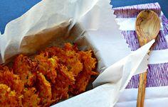 sweet potato butternut squash latkes