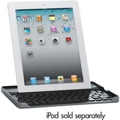 Logitech iPad 2 & 3 Bluetooth Keyboard & Carry Case by ZAGG w/ Bluetooth, Aluminum Frame and Shortcut Keys! Ipad 4 Case, Latest Mobile Phones, Best Ipad, Bluetooth Keyboard, Logitech, Apple Ipad, Cool Things To Buy, Keys, Frame
