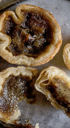 DATE & MAPLE BUTTER TARTS ~ Gooey and molten with a brown sugar and, here, maple syrup filling, I couldn't imagine anything more perfect to introduce to honey-sweet, toffee-like dates.