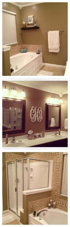 Master Bathroom. Love the monogram