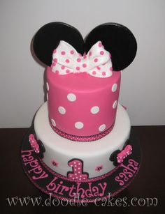 I HAVE to have this cake for her party. I mean it's a 1st birthday cake AND has her name on it!!