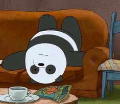 Trying to watch an upside down movie scene - sky We Bare Bears Wallpapers, Panda Wallpapers, Cute Cartoon Wallpapers, Panda Love, Cute Panda, Panda Bear, Panda Background, We Bear, Bear Wallpaper