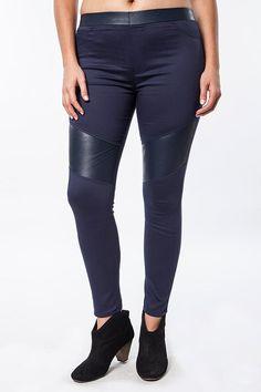 women's plus size blue leggings #plussizepants #plussizefashion #plussizeleggings