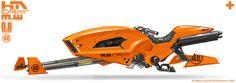 Orange Speeder Bike by NuMioH.deviantart.com on @deviantART