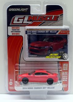 1:64 GREENLIGHT MUSCLE SERIES 16 - 2016 DODGE CHARGER SET HELLCAT - FREE SHIPING #GreenLight #Dodge