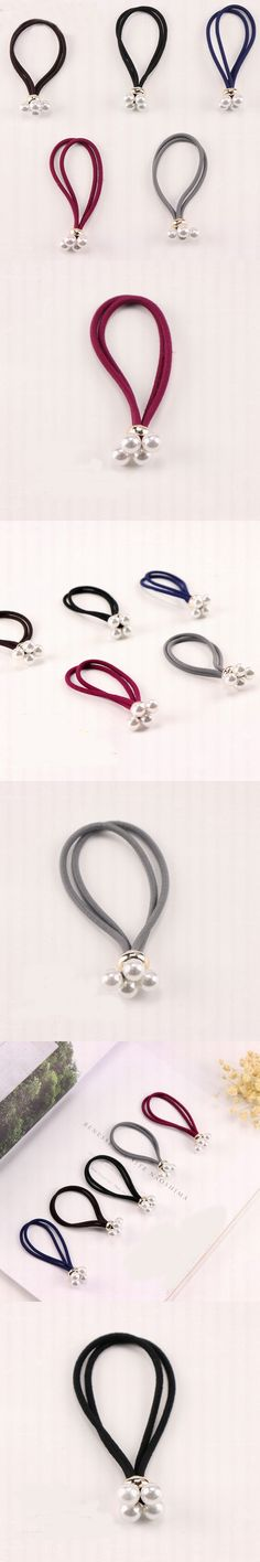 2017 New Arrival Women Elastic Hair Bands Luxury Pearl Women Hair Gum Ladies Hair Rope Girls Hair Accessories Headwear Wholesale