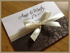 Personalised Wedding Invitations Day Evening Invites + Envelopes ★★★ LUX ★★★