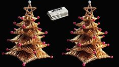 How to make Table top Christmas Tree from Newspaper