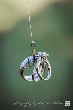 ©Christina Ahlheim | Charisma Photography | Bride + Groom | Rings | Fishing | White Mule Winery | Owensville, Missouri Wedding Photographer