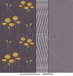 Floral Print Pattern Stock Vectors & Vector Clip Art   Shutterstock