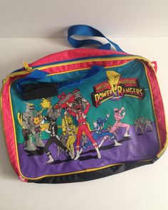 Mighty Morphin Power Rangers Lunch Bag and School Kit