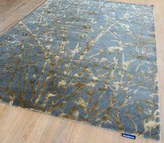 Sanderson - Meadow 46805 Charcoal / Gold Rugs | Modern Rugs