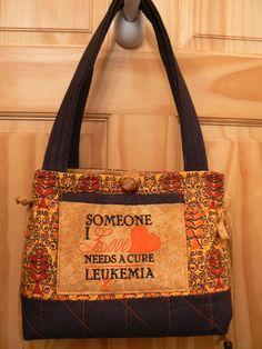 Beautiful.....Leukemia Awareness tote purse