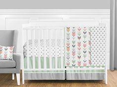 Grey, Coral and Mint Woodland Arrow 11 Piece Girls Crib B... https://www.amazon.com/dp/B01HHAWZRG/ref=cm_sw_r_pi_dp_x_P9oqybVZN8M06
