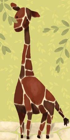 Giraffe print.