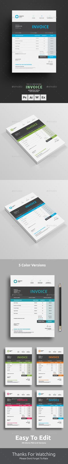 Invoice Estimation Brief - Proposals \ Invoices Stationery - invoice page