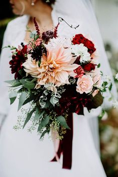 24 Wedding Bouquet Ideas & Inspiration - Peonies, Dahlias, and Lilies ❤ See more: www.weddingforwar... #weddings