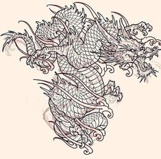 Dragon sketch for client! Dragon Tattoo Drawing, Small Dragon Tattoos, Japanese Dragon Tattoos, Japanese Tattoo Art, Dragon Tattoo Designs, Tattoo Sleeve Designs, Sleeve Tattoos, Dragon Sketch, Dragon Sleeve