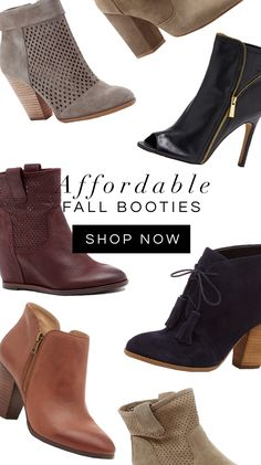 Affordable Fall Booties, Fall Fashion - Shop The Top Online Women's Clothing Stores via http://AmericasMall.com/categories/womens-wear.html