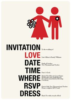 Cartoon Bride & Groom Wedding Invitation | Invitation | Pinterest ...