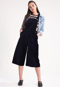 Dorothy Perkins Kombinezon - navy blue - Zalando.pl Miss Selfridge, Topshop, Duster Coat, Overalls, Navy Blue, Jumpsuit, Pants, Jackets, Fashion
