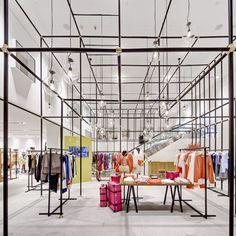 Lane Crawford Lab, Hong Kong by Neri and Hu Neri And Hu, Interior Design Awards, Retail Interior, Fashion Showroom, Environmental Design, Retail Space, Store Displays, Shop Interiors, Retail Shop