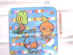 Pokemon Center towel Treecko Torchic Mudkip shopper plastic bag With gifts #PokemonCenter