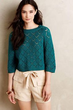 Moss Cropped Pullover #anthrofave #anthropologie