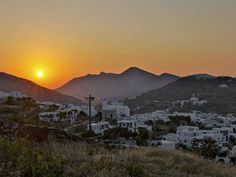 Sunset at Apollonia,  Sifnos #mysteriousgreece