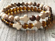 Gemstone bracelet, Bohemian bracelet, Ibiza bracelet, Stretch stacking bracelet, Woman bracelet gift idea, Woman jewlery, beaded bracelet door KennlyDesign op Etsy