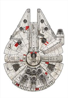 Millennium Falcon – Pirate Ship by David Kennad: