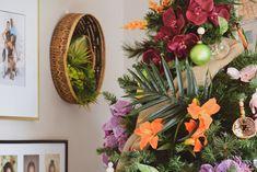 Tropical Bohemian Christmas Tree - Casa Watkins Living Mini Prom Dresses, Unique Prom Dresses, Popular Dresses, Tropical Christmas Trees, Bohemian Christmas, The Costumer, Program Design, Bridesmaid, House Styles