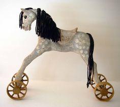 Vintage Hand-Carved Horse