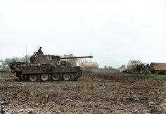 "21 June 1944 Poland Panzer V ""Panther"" on the move through the field. Panther is from army group center"