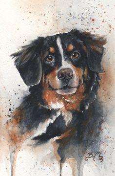 10x13 Original Custom Watercolour Pet Portrait by BCDuncanDesign, $115.00