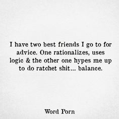 Do you have these two best friends in your life? Two Best Friends, Real Friends, Word Porn, Couple Goals, Life Lessons, Advice, Inspirational Quotes, Words, Funny