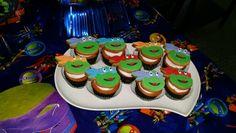 Cupcakes con galletas de ninja. Mmmm!