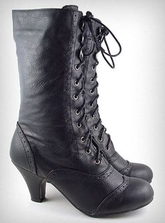 Coal Mill Victorian Boots | PLASTICLAND Ohhh, these are awesome shoes!