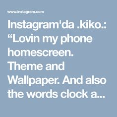 "Instagram'da .kiko.: ""Lovin my phone homescreen. Theme and Wallpaper. And also the words clock app. So cool 😊😎 #dodollauncher #pandawallpaper #panda"""