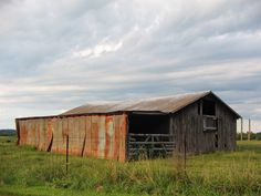 Small barn in central Ohio's farm country.  Taken on a late summer evening.