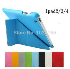 High Quality Tablet Cases Utrathin 4 Shapes Stand Design Magnetic Leather Case for ipad 4 3 2 Smart Cover Smart cover for iPad4