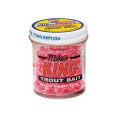 Atlas Mike's 1205 Pink King Glitter Eggs 1.6 Ounce Jar Trout Bait